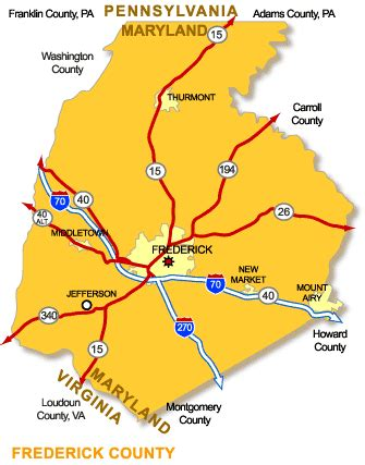 Frederick County Md Property Records Frederick Maryland Map Bnhspine