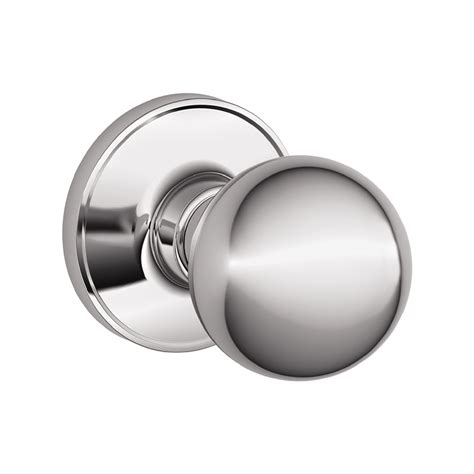 Schlage Chrome Door Knobs by Shop Schlage Corona Polished Chrome Passage Door