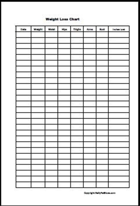 weight loss measurement charts beautiful measurement chart templates