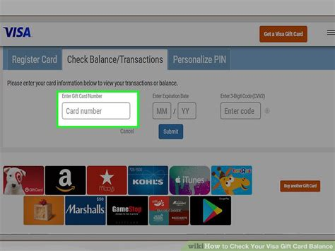 How To Check My Visa Gift Card Balance - how to check your visa gift card balance 9 steps with pictures