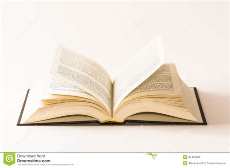 picture book free open book on white background stock image image 34455809