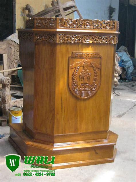 Podium Jati Jepara mimbar podium pidato pemerintahan kayu jati jepara wali