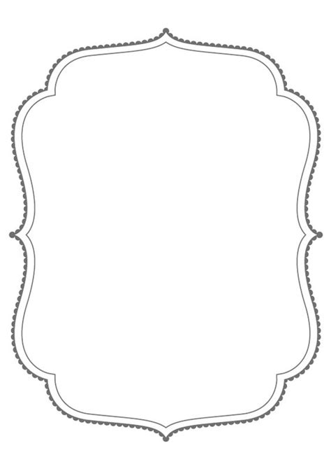 fancy card shape template free frame outline cliparts free clip free