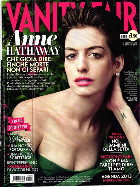 Vanity Fair It Magazine Hathaway Vanity Fair Italy Magazine January 2013