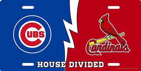 house divided license plate cubs cardinals house divided license plate license plate