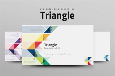 creative company profile layout pdf triangle presentation templates on creative market