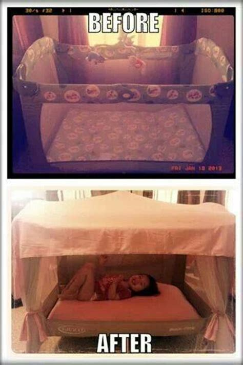 turn your bed into a private tent turn an old play pen into a fun toddler tent mommies