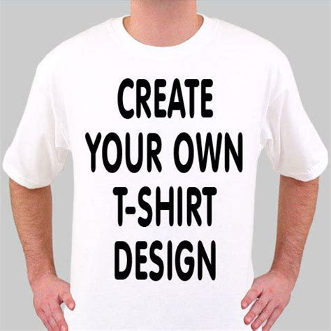 Make Your Own Shirt Design Create Your Own Personalised White T Shirt Ebay