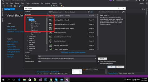 visual studio form templates c missing windows form templates in newly installed
