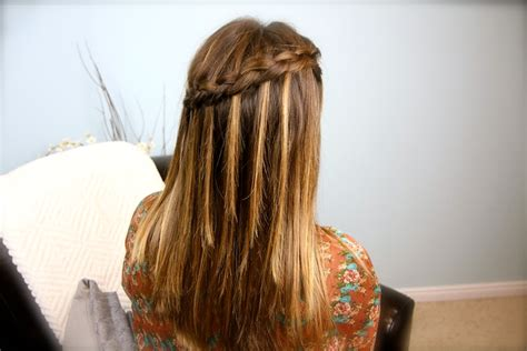 diy hairstyles cgh how to create a diy dutch waterfall braid cute braided
