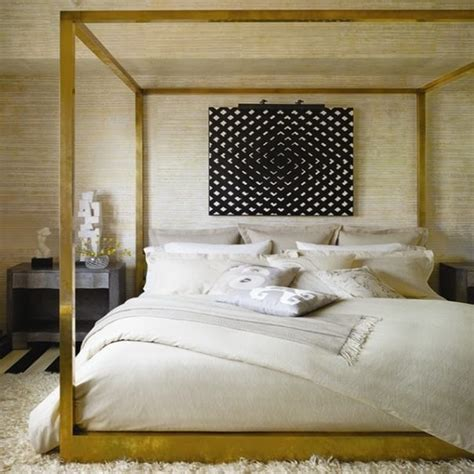 gold bed canopy beautiful bedrooms by kelly wearstler to copy this summer