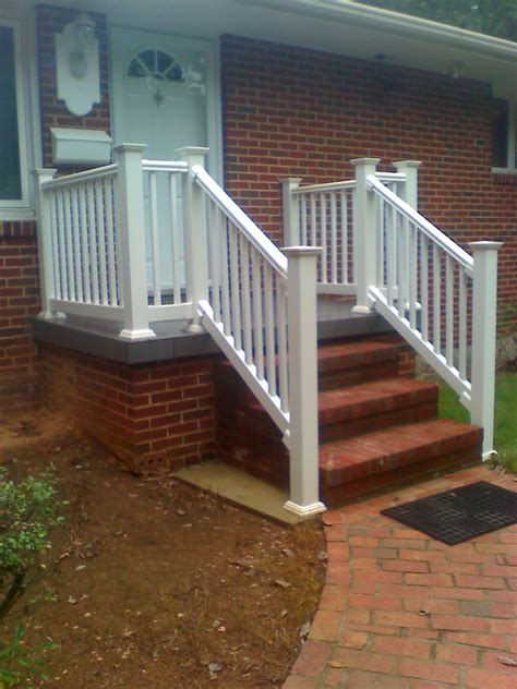 Small Stair Handrail Durable And Affordable Vinyl Stair Railing