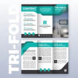 Business Tri Fold Brochure Template Design With Turquoise Color Scheme In A4 Size Layout With A4 Size Tri Fold Brochure Template