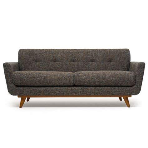 nixon leather sofa the nixon sofa with wood base by thrive home furnishings