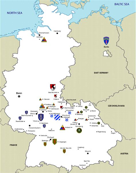 map us bases in germany list of united states army installations in germany