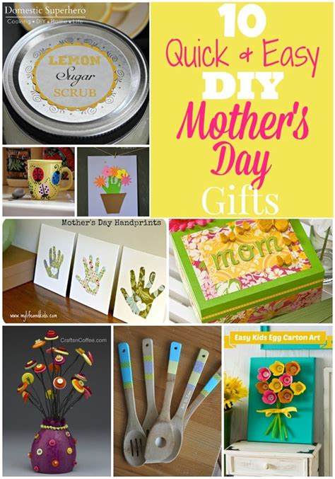 10 quick easy diy mother s day gifts domestic superhero