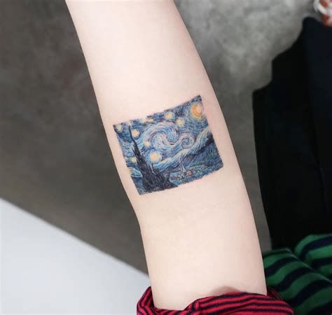 starry night tattoo the starry from the gogh painting best