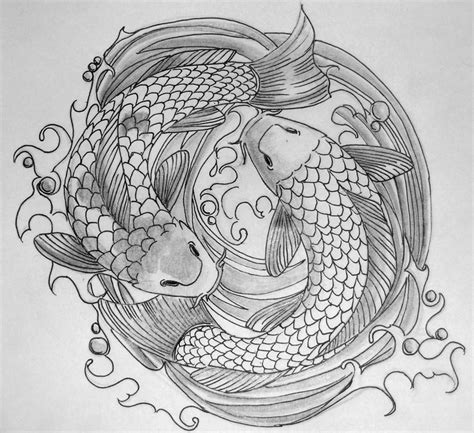 koi fish tattoo designs black and white koi fish black and white design