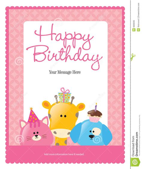 greeting card template 8 5x11 pdf 8 5x11 birthday flyer poster template stock vector image