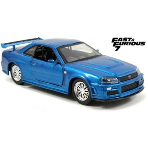 blue nissan skyline fast and furious jad97185 1 32 2002 nissan skyline gtr r34 fast and