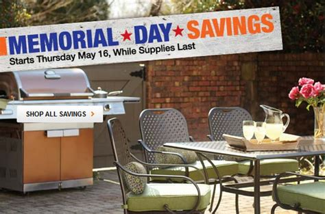 what time does home depot on memorial day