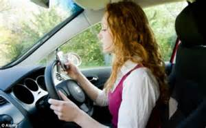 texting  driving slows reaction times
