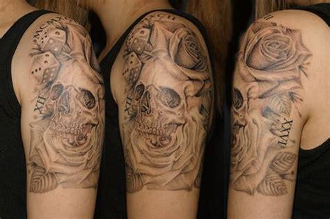 skull rose dice tattoo スカル ドクロ ダイス 薔薇のタトゥー tifana tattoo