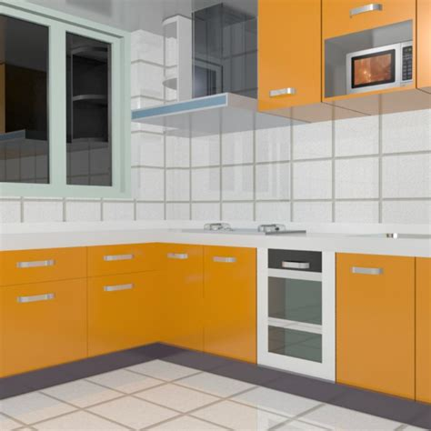 Kitchen Cabinet Models by Download L Shape Modular Kitchen Cabinets 3d Model