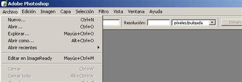 barra de herramientas superior photoshop el 225 rea de trabajo de photoshop photoshop cs