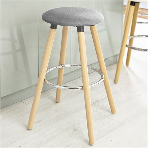 Breakfast Bar Stool Uk by Sobuy 174 Bar Stool Kitchen Breakfast Barstool Abs Plastic Seat Fst35 W White Uk