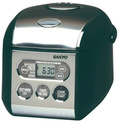 Rice Cooker Sanyo sanyo ecjs35k black rice cooker 3 5 cups uncooked