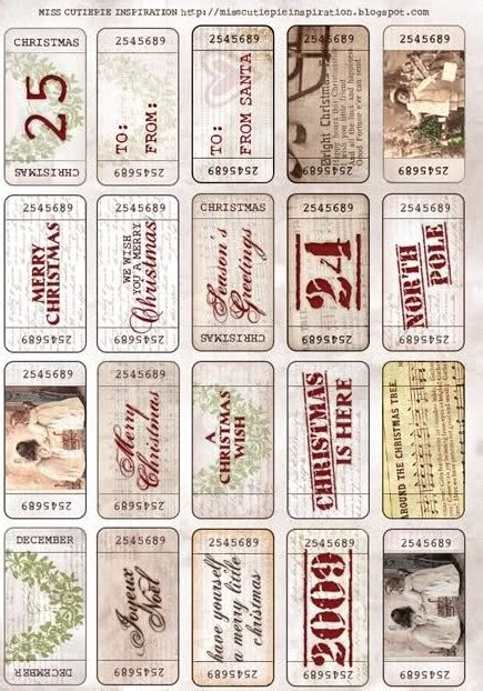 8 best images of vintage printable christmas name tags