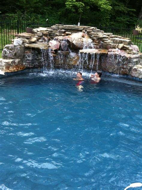 pool waterfall ideas 48 best images about pool remodeling ideas on pinterest
