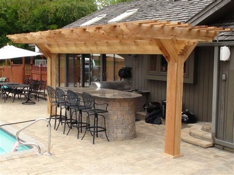 Outdoor Kitchen Arbor Pergola Arbors Outdoor Kitchen Western Cedar Pergolas