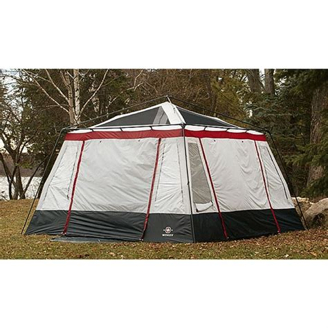 Grey Canopy Tent Wenger 174 8 Person Edelweiss Gazebo Tent Gray