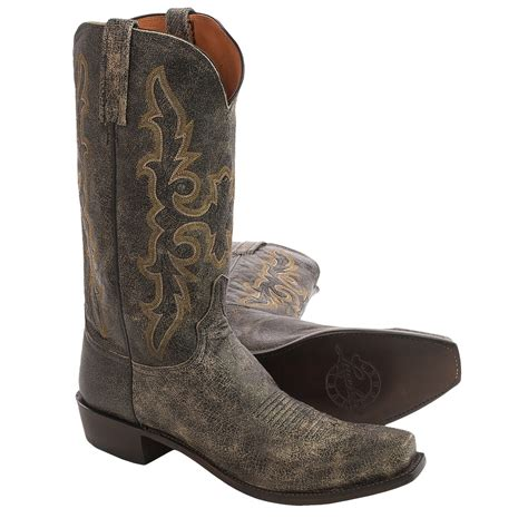 lucchese square toe boots mens lucchese aviator cowboy boots for