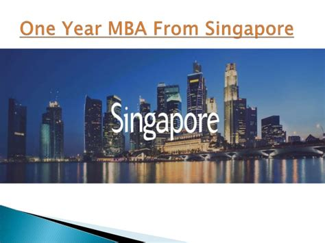 One Year Mba In Mathematics by Study In Singapore Study Abroad Consultant Engineering