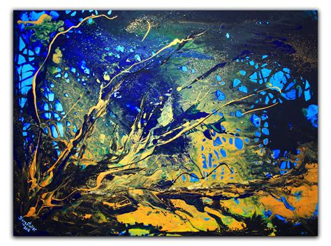 Vorlagen Moderne Malerei Bild Abstrakte Kunst Acrylbild Abstrakt Bild Blau Abstrakt Moderne Malerei Alex B Bei