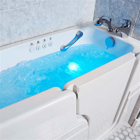 walking bathtub walk in tub for seniors senior walkin bathtub couple