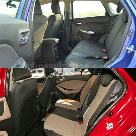 maruti baleno vs hyundai elite i20 rear seat comparison
