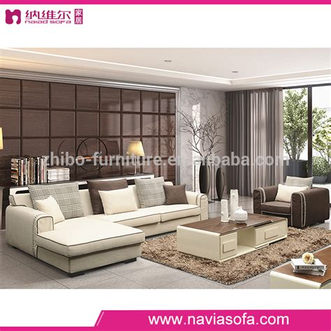 living room furniture low back l shaped corner sofa set