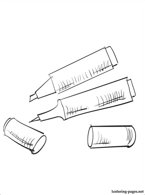 markers coloring page coloring pages