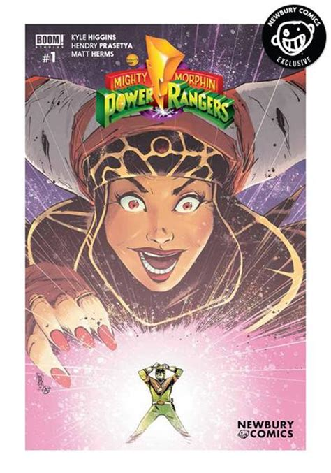 Newbury Comics Gift Card - boom studios mighty morphin power rangers 1 mike henderson variant cover comic