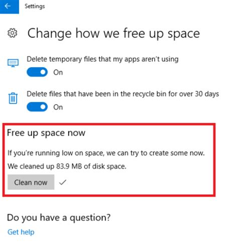 how to make room on startup disk low on disk space set up windows 10 storage sense now