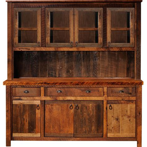 Rustic Hutch rustic hutch artisan frontier barnwood buffet hutch for the home rustic hutch