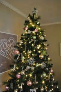 Modern Decorated Christmas Trees - holiday decor our green pink and metallic christmas