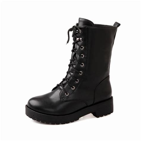 womens lace up boots new fashion platform boots 2016 lace up toe