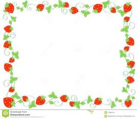 strawberry border stock images image 17320134