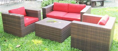 Thailand Outdoor Rattan Wicker Square Sofa Set Sf 1b0002 Thailand Outdoor Furniture