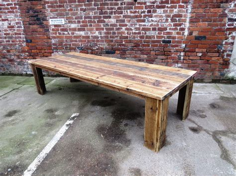 12 Seater Dining Tables Reclaimed Industrial Chic 10 12 Seater Solid Wood Dining